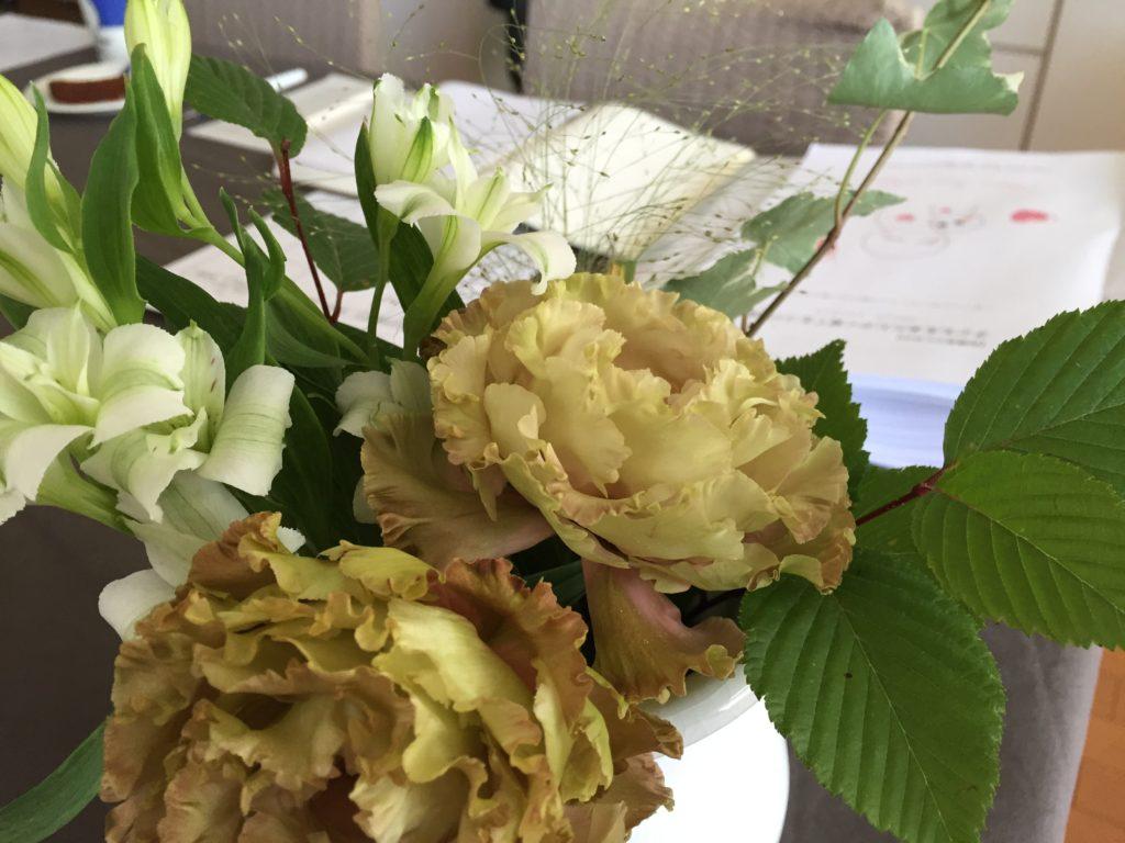 お花とテキスト