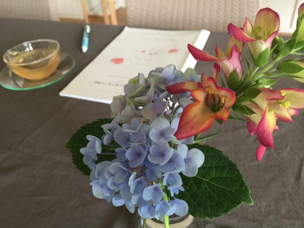 花とテキスト ペアレント・トレーニング